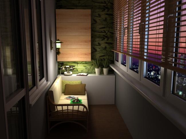 Остекление балконов и лоджий в Калуге, внутренняя отделка кабинета - рабочее место на балконе